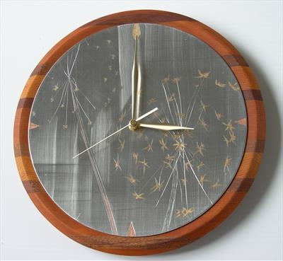 ALLIUM CLOCK 'for those who like time to drift away'.