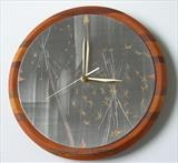 ALLIUM CLOCK 'for those who like time to drift away'. by Melanie Guy, Metal, pewter on various woods