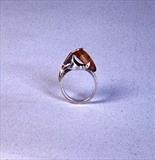 DRESS RING by Melanie Guy, Jewellery, gold, silver & amber