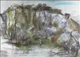 KIT HILL QUARRY by Melanie  Guy, Painting, Mixed Media on paper