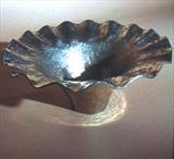 RIPPLE OFFERING BOWL by Melanie Guy, Metal, pewter