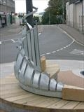 SEAT SCULPTURE by Melanie  Guy, Sculpture, galvanised steel