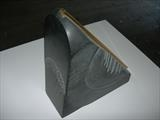 SPIRITUAL PIECE by Melanie Guy, Sculpture, slate, brass